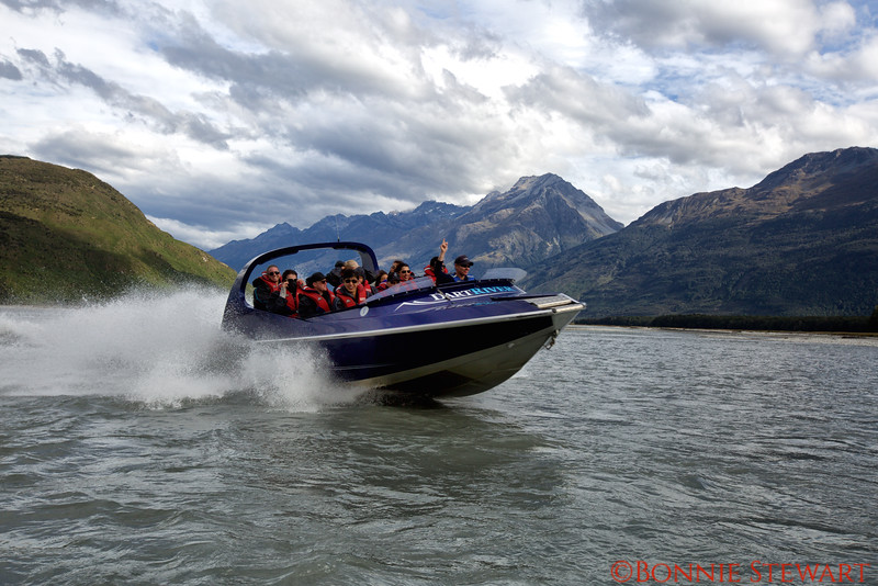 Dart River Jet Boat getting ready to do a 360!