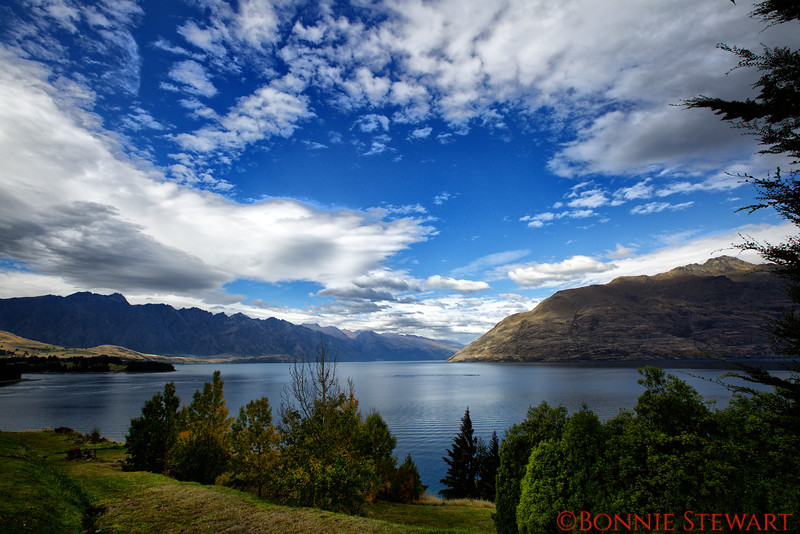 Lake Wakatipu with The Remarkables mountain range as a backdrop