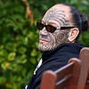 Ra of the Maori Ohinemutu Tribe with facial tattoos of his family history