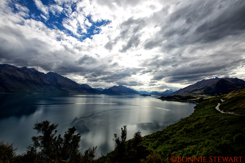Lake Wakatipu along the road to Glenorchy
