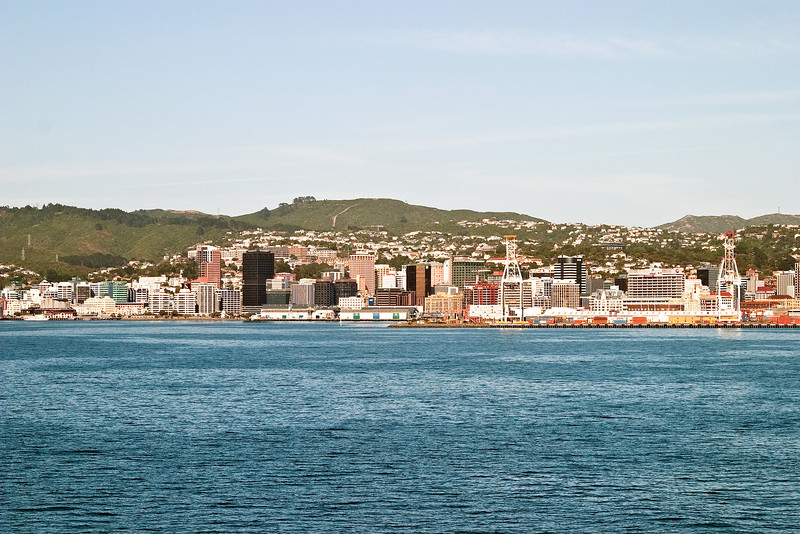 Downtown Wellington, as seen from the ferry departing for Picton on the South Island.