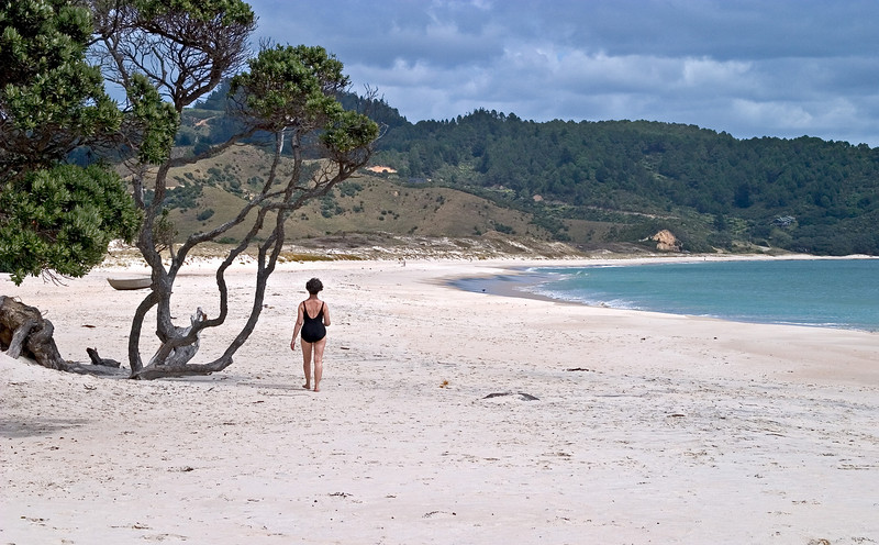 At Otama Beach, a short distance from Kuaotunu.  Again, virtually deserted.