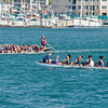 Two dragon boats.  Some were all boys, some all girls, and some mixed.