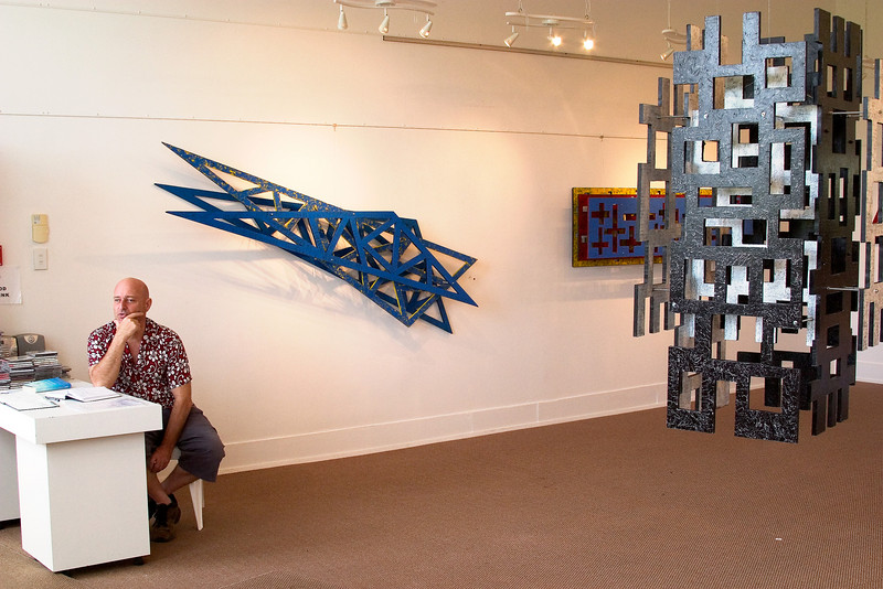Sculpture show at gallery in the town of Coromandel.