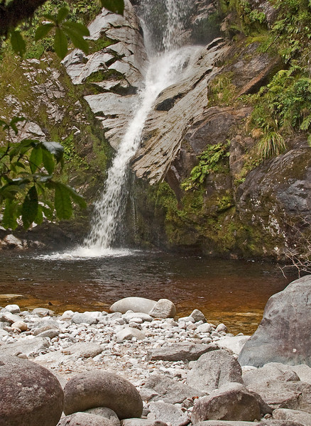 Dorothy Falls in the Lake Kaniere preserve.