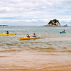 Kayakers at Kaiteriteri Beach.