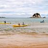 Kayakers at Kaiteriteri Beach.