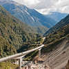 The Arthur's Pass viaduct, transversing the higher portions of the Alps.