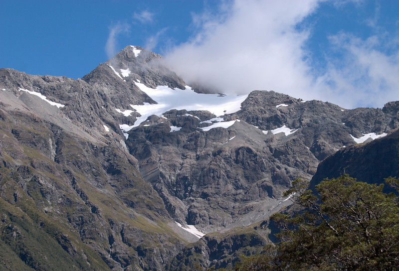Mt. Rolleston glacier, near Arthur's Pass.