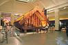 Traditional Maori building rebuilt and preserved in the Auckland Museum.