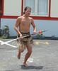 Maori warrior performs traditional dance.<br /> Rotorua    (Mon. Jan. 2, 2006)