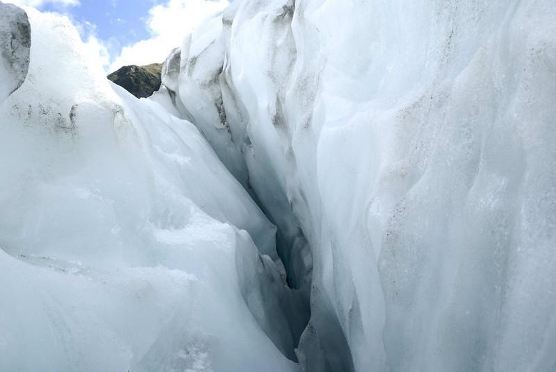 Crevasse, Frans Josef Glacier.