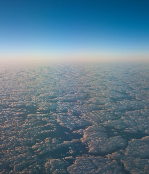 Sunrise over the ocean between Australia and New Zealand
