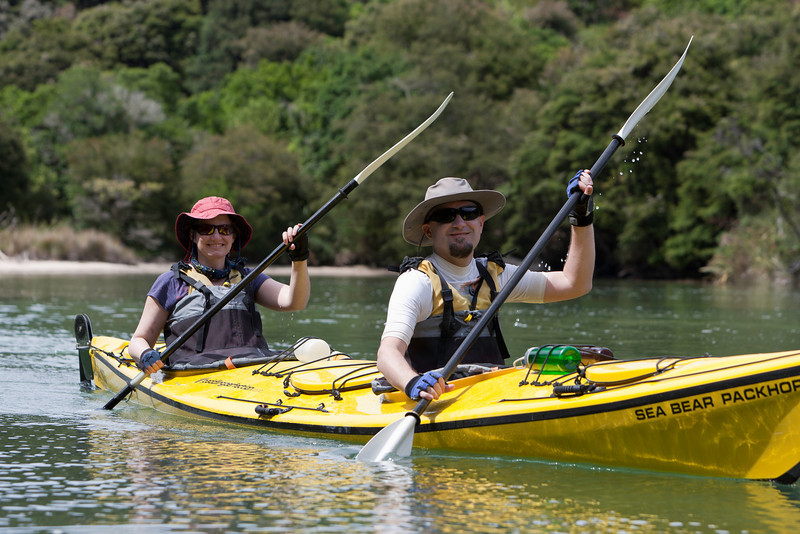 Kayaking in an Abel Tasman Lagoon