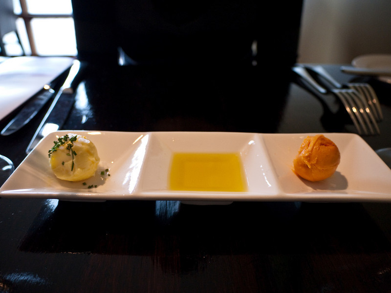 Fresh butters and olive oil