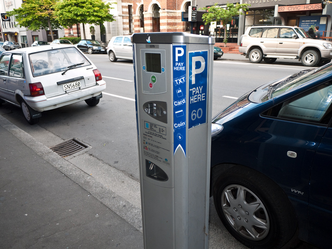 Pay the parking meters by sending a text message