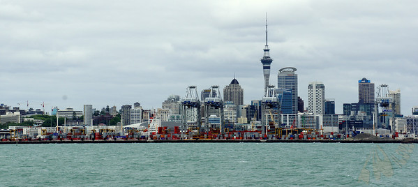 Auckland Skyline (from Waiheke Island Ferry)