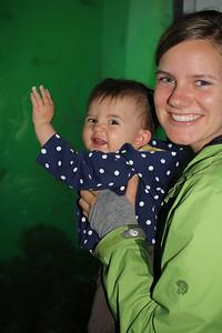 Malia & Aunika at the underwater observatory