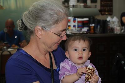 Grandma Mitzi & Malia at Vudu Cafe, Queenstown