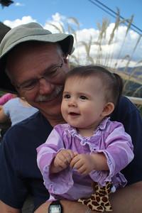 Grandpa Sheldon & Malia play while Shane & Jayna ride the luge.