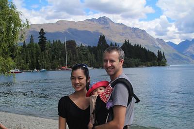 Shane, Jayna & Malia by Lake Wakatipu, Queenstown