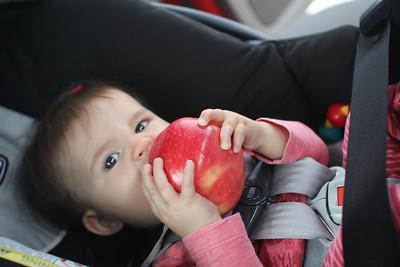 Malia loves apples