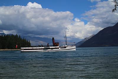 TSS Earnslaw vintage steamship on Lake Wakatipu, Queenstown