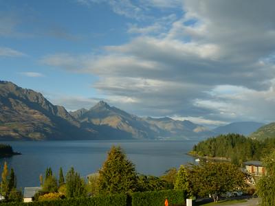 View from our room in Queenstown