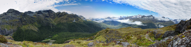 Another view of the Hollyford Valley from the Routeburn Track