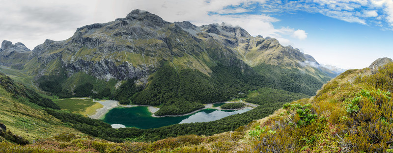 View of Lake Mackenzie looking southeast from the Routeburn Track
