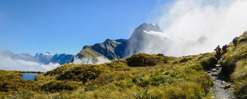 """Looking west from the Milford Track (44°48'9"""" S 167°46'5"""" E)"""