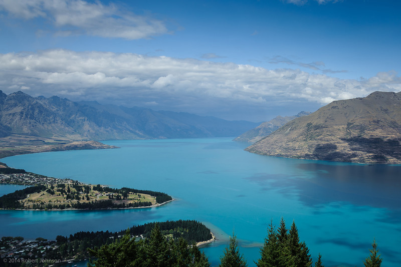 Lake Wakatipu and Queenstown, NZ