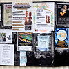 Community bulletin board at the town of Coromandel.