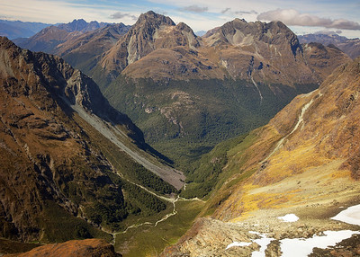 Aerial View of Glacial Valley