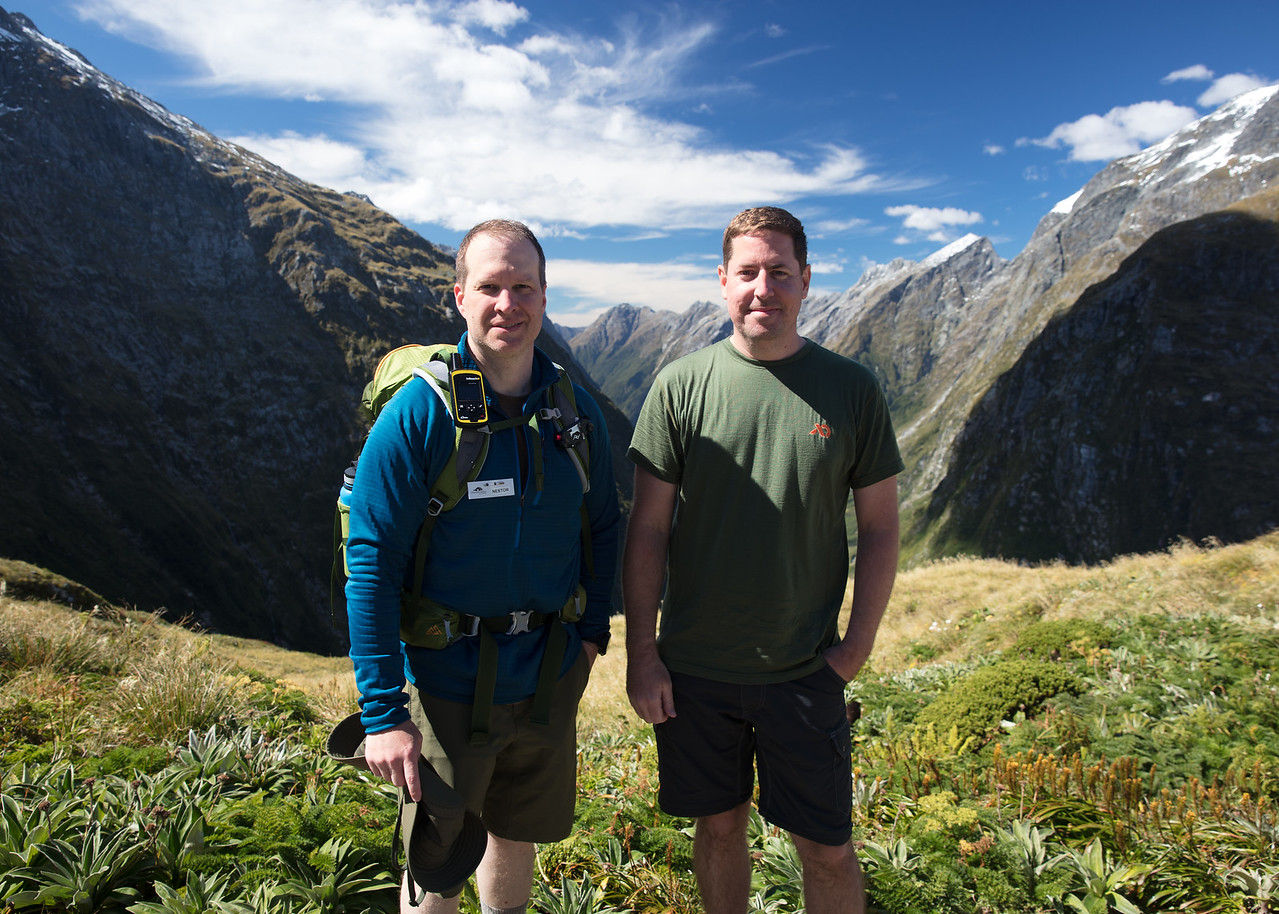 Nestor and John on MacKinnon Pass