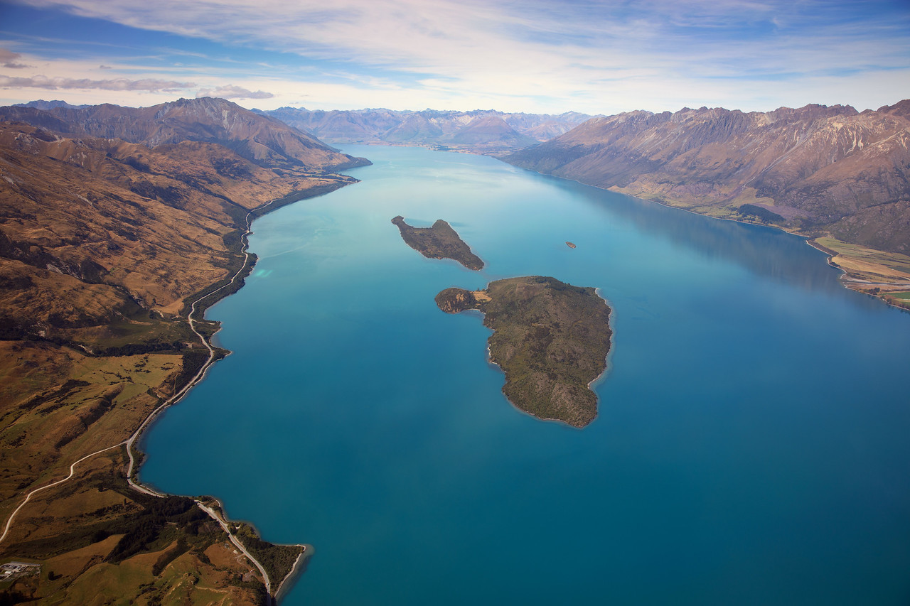 Aerial View of Lake Wakatipu