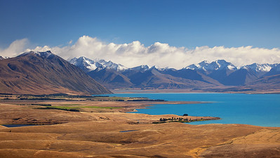 View from Lake Tekapo Observatory