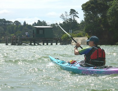 Paddling off Greenhithe, West Harbour, Auckland