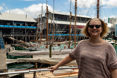 K with sailboats. That's the New Zealand Maritime Museum in the background.