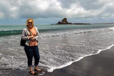 K at Whatipu Beach