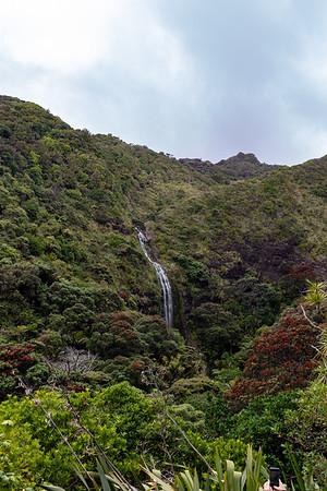 Upper part of Karekare Falls