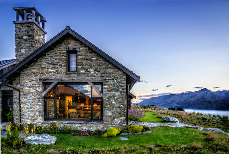 Dinner party in Glenorchy, NZ. <br />  Nice house.