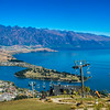 Queenstown Gondola Cableway, overlooking Queenstown,  Lake Wakatipu and the Remarkables