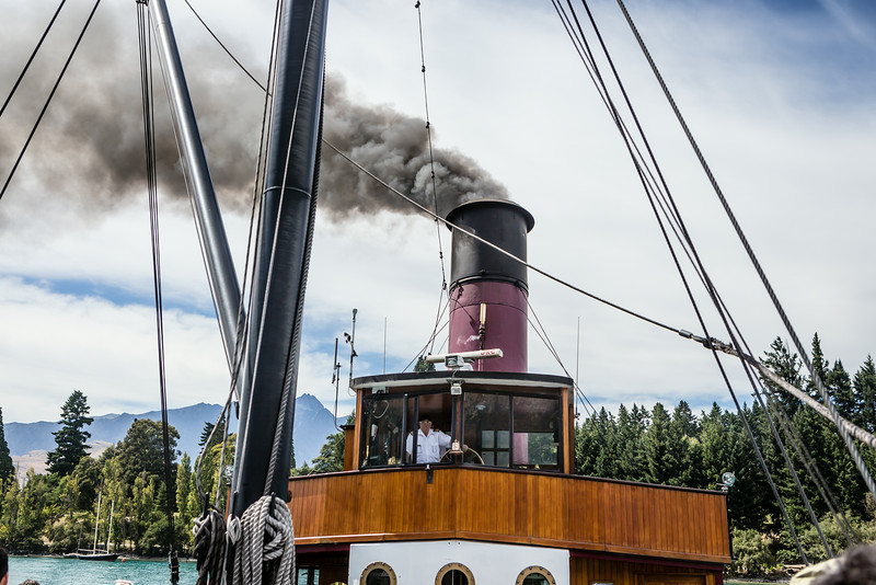 Cruzing on the 100 yr old Earnslaw. Very Disneysque.