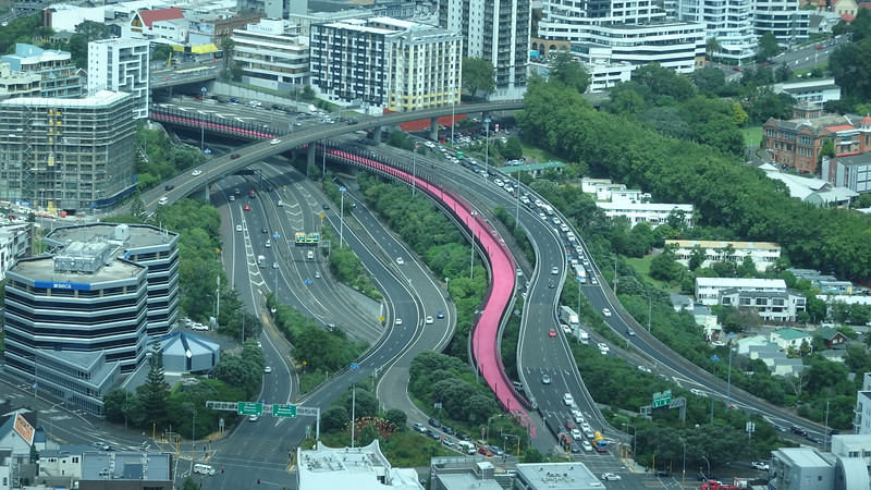 Auckland motorway from the Sky Tower