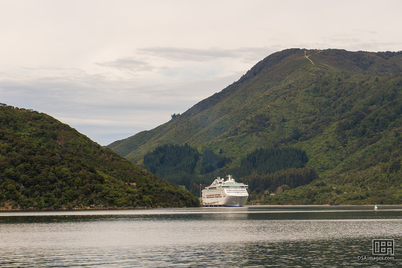 Sea Princess in Shakespeare Bay