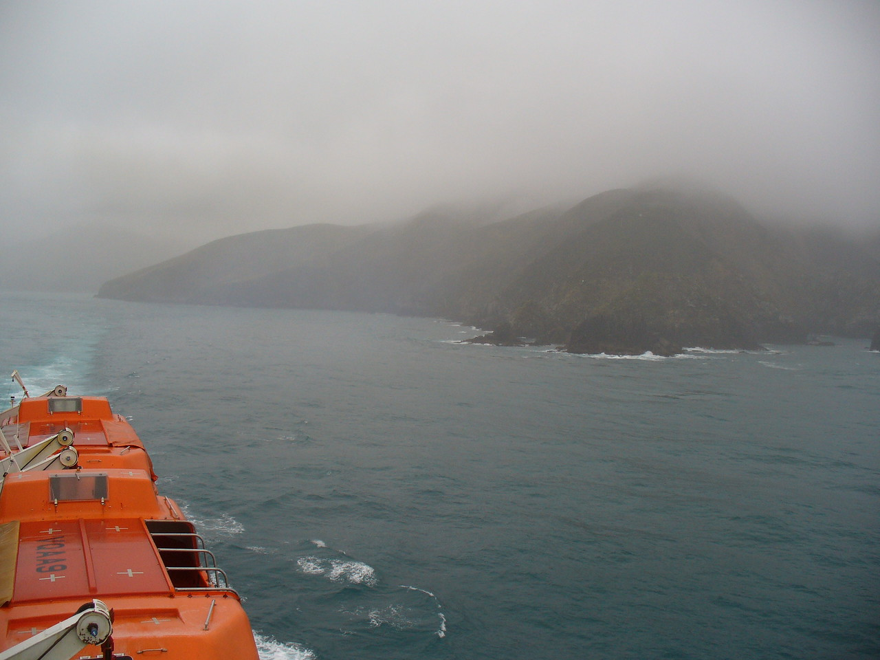Leaving Marlborough Sound, heading for Wellington