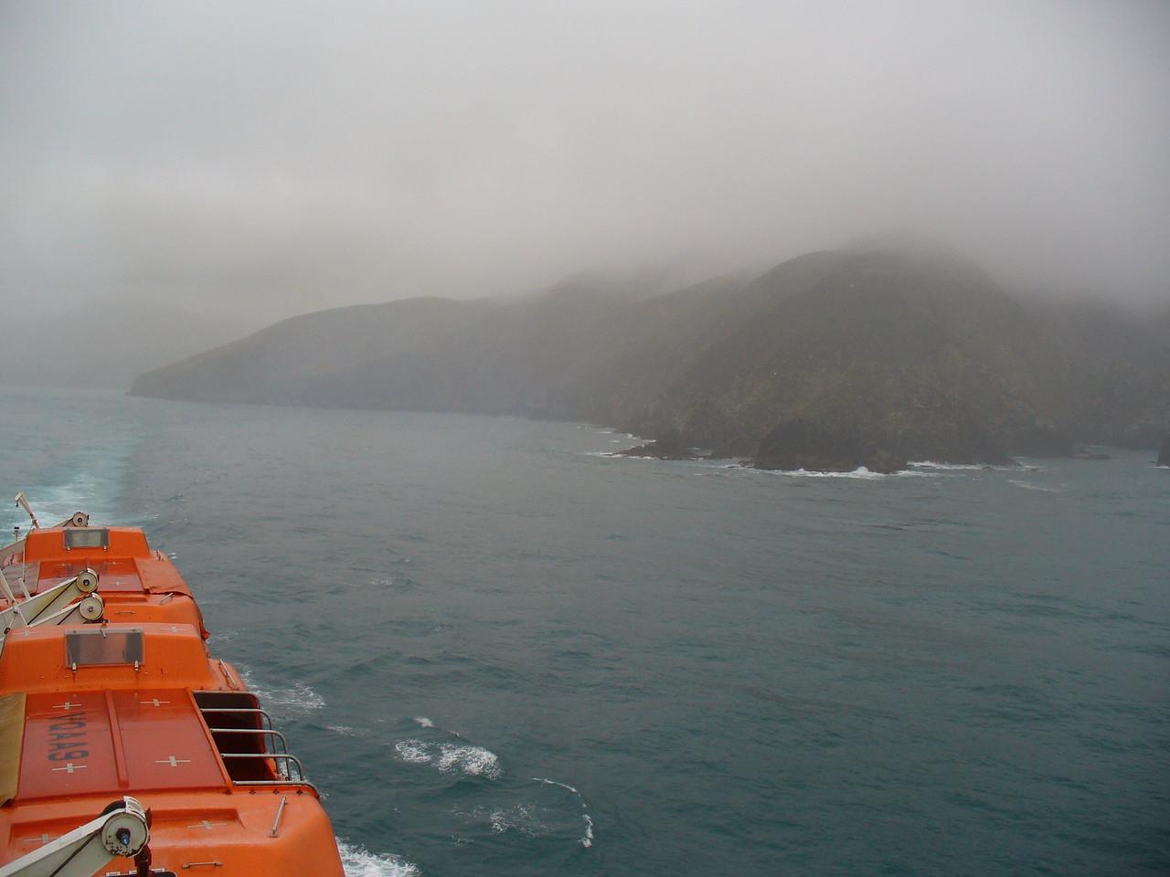 Leaving Marlborough Sound, heading for Wellington