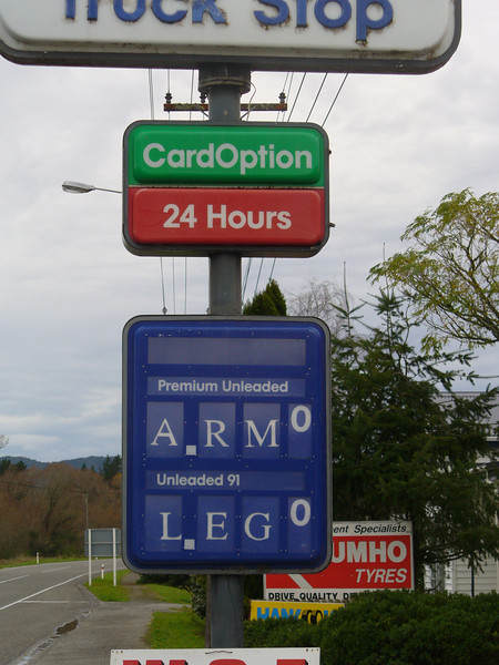 Kiwi opinion of fuel prices, between Greymouth and Reefton