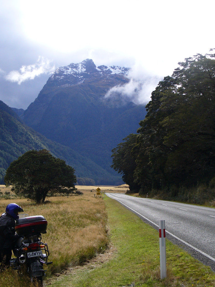 Lower part of the road into Milford Sound